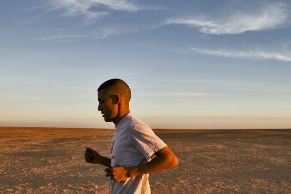 The Runner team's first shoot with Salah Ameidan in the Algerian refugee camps, February 2010