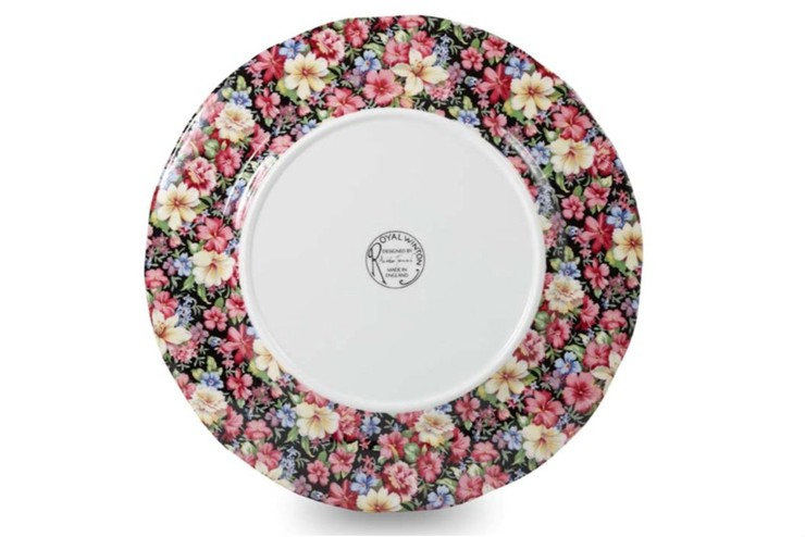 Chintz Dinner Plate (Reverse of Plate)