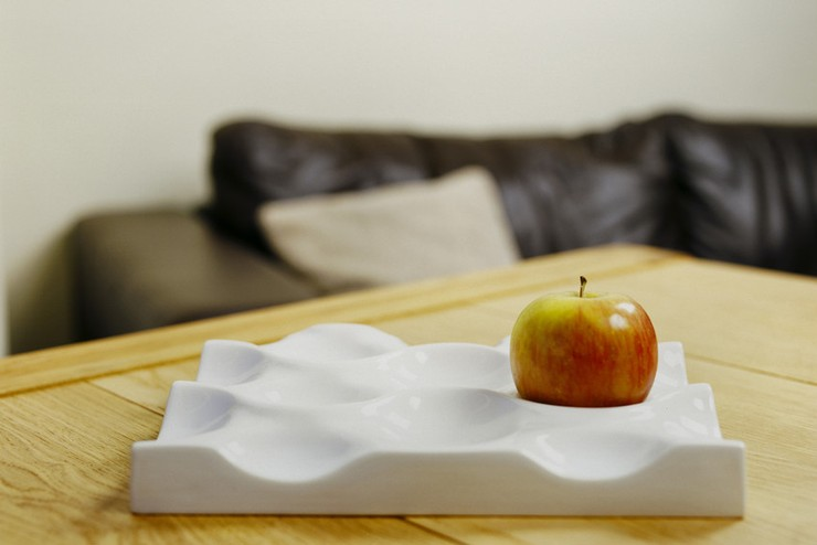 Crate White, Earthenware Fruit Holder (Award Winning Collection)