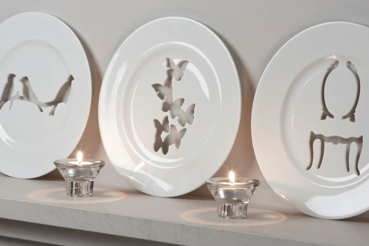 Silhouette Wallplace Collection, Pierced Bone China Wallplate (Award Winning Collection)