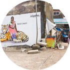 #CultureFutures event: meet the creators Priya mural in Mumbai