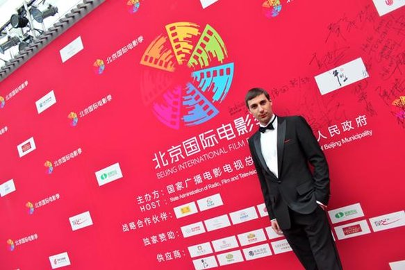 Paolo on the red carpet at Beijing's International Film Festival, China. April 2011, on tour with Orchestra Italiana del Cinema